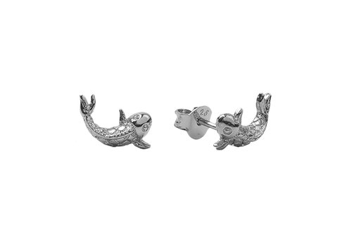 All the Luck in the World Parade Silverplated Earrings Koi Carp