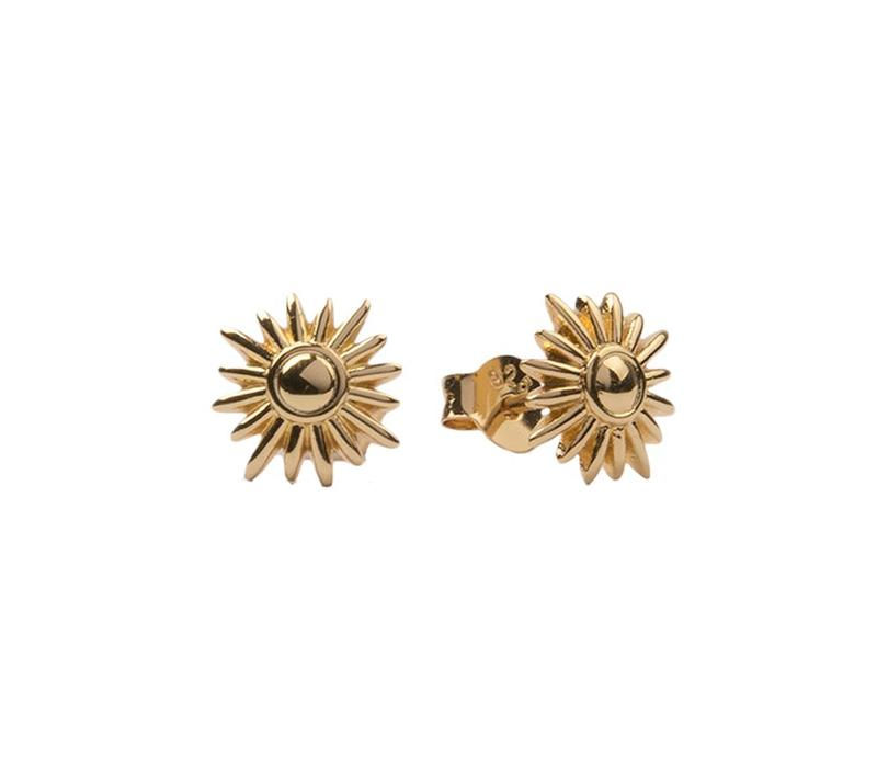 Earrings Sun gold