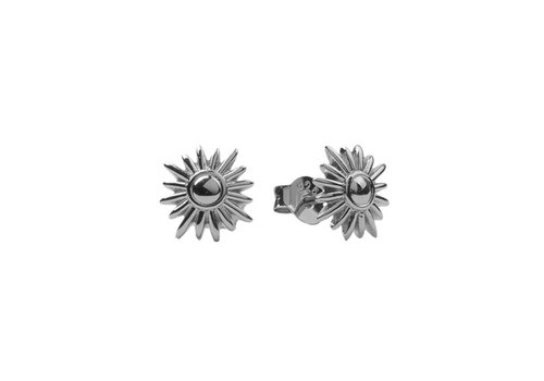 All the Luck in the World Parade Silverplated Earrings Sun