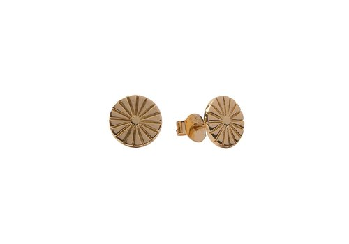 All the Luck in the World Parade Goldplated Earrings Sunny Coin