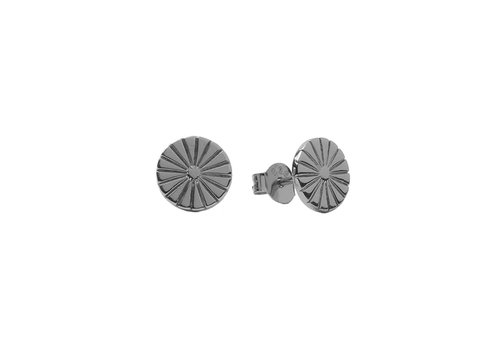 All the Luck in the World Parade Silverplated Earrings Sunny Coin