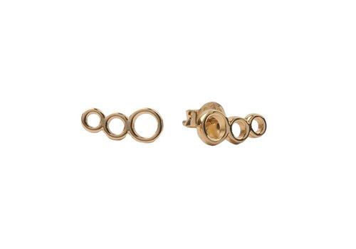 All the Luck in the World Parade Goldplated Earrings Three Circles