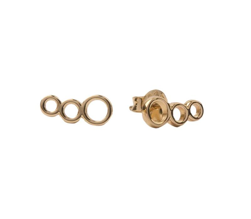 Earrings Three Circles gold