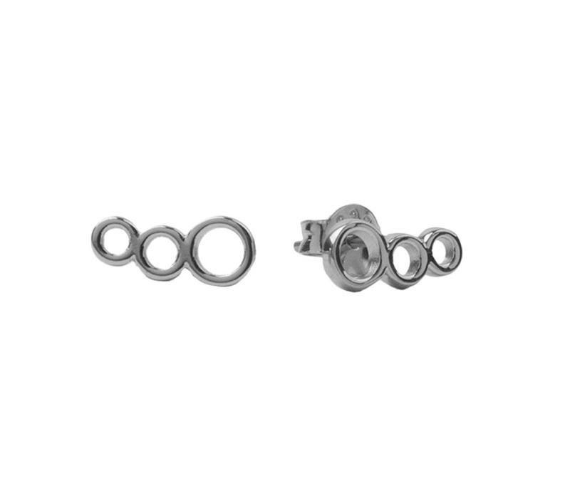 Earrings Three Circles silver