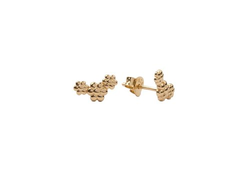 All the Luck in the World Earrings Three Flowers gold