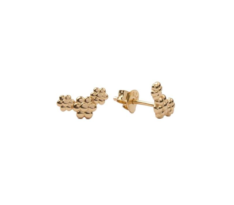 Parade Goldplated Earrings Three Flowers