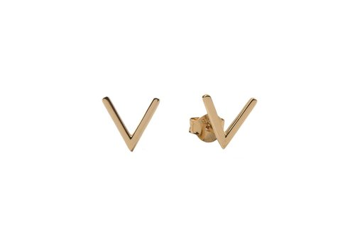 All the Luck in the World Parade Goldplated Earrings Vee