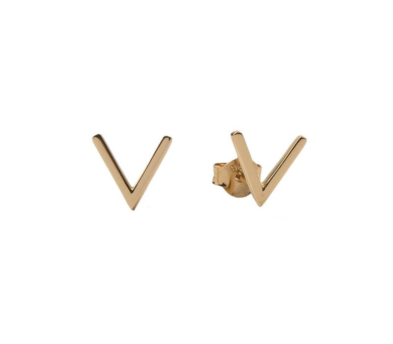 Earrings Vee gold