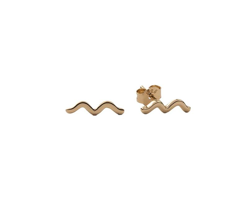 Earrings Wave plated