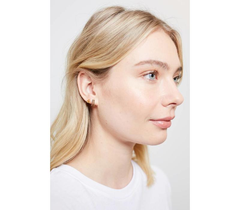 Parade Goldplated Earrings Three Stars Small