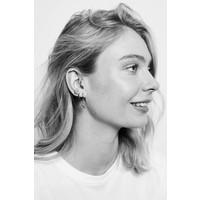 Earrings Three Flowers silver