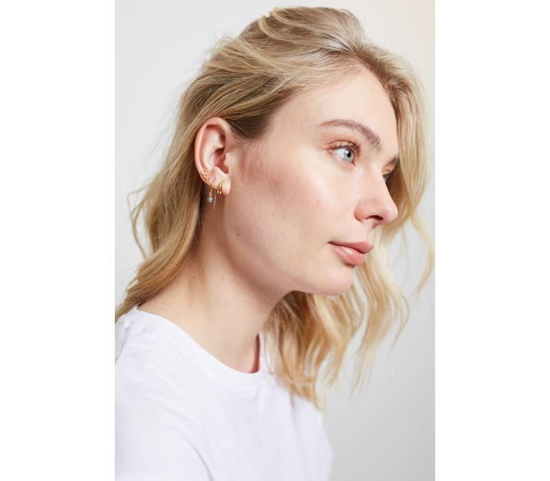 Parade Goldplated Earrings Three Circles