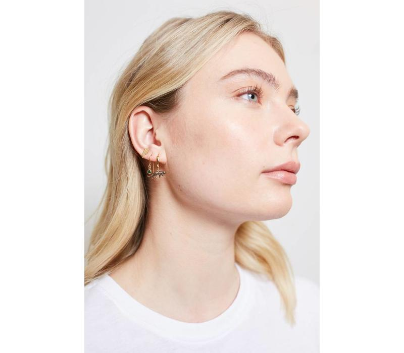 Earrings Three Bars plated