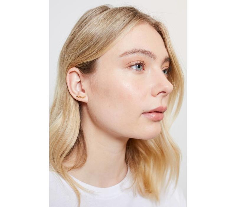 Earrings Swallow gold