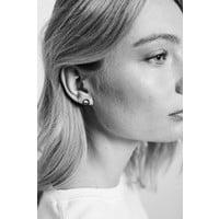 Earrings Geometric Circle silver