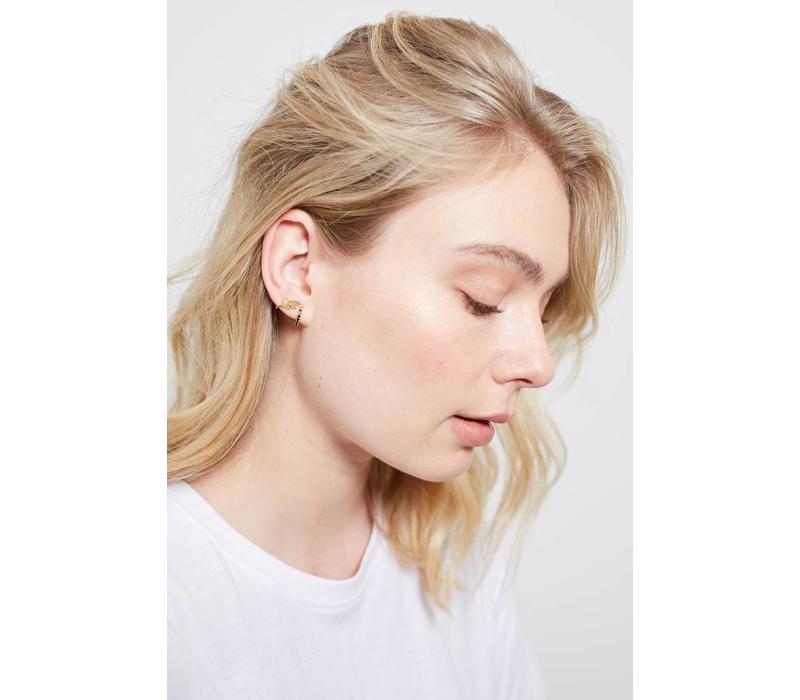 Earrings Crane plated