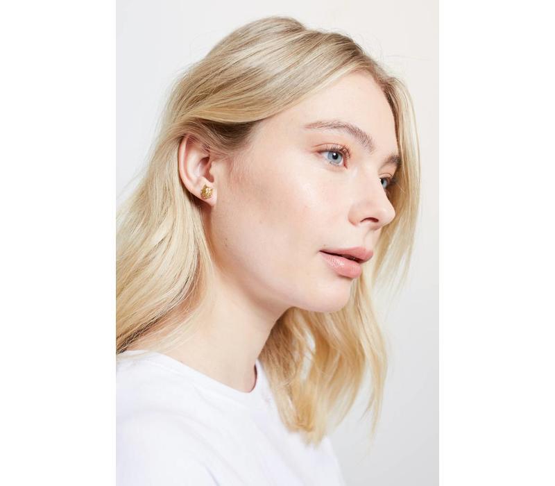 Earrings Wolf plated