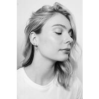 Earrings Triangle plated