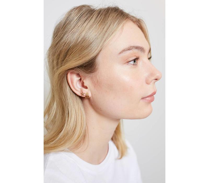 Earrings Starfish plated