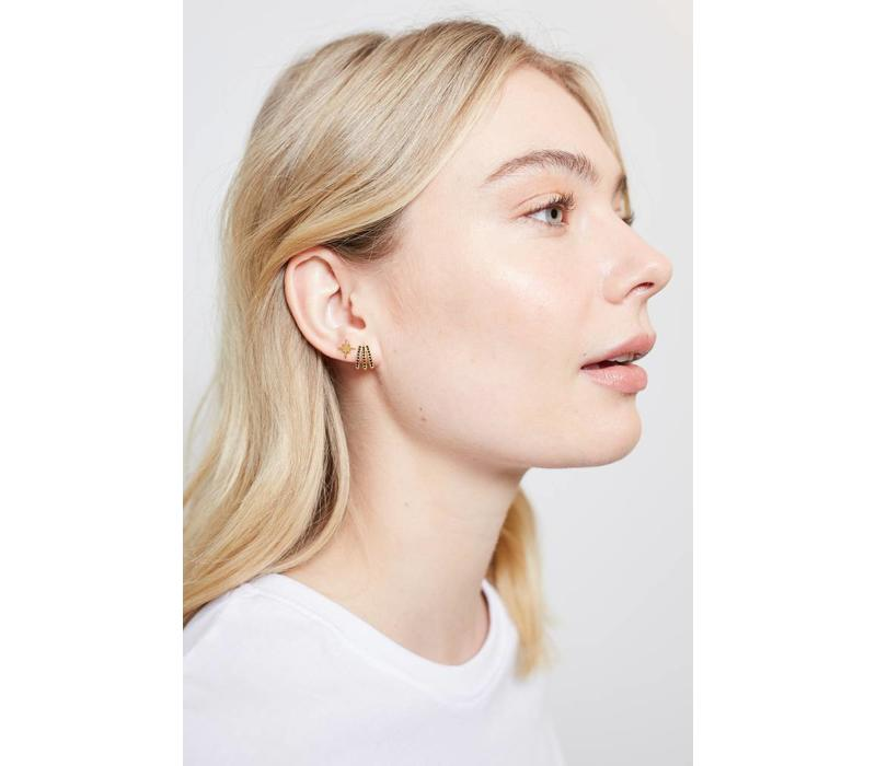 Parade Goldplated Earrings Starburst