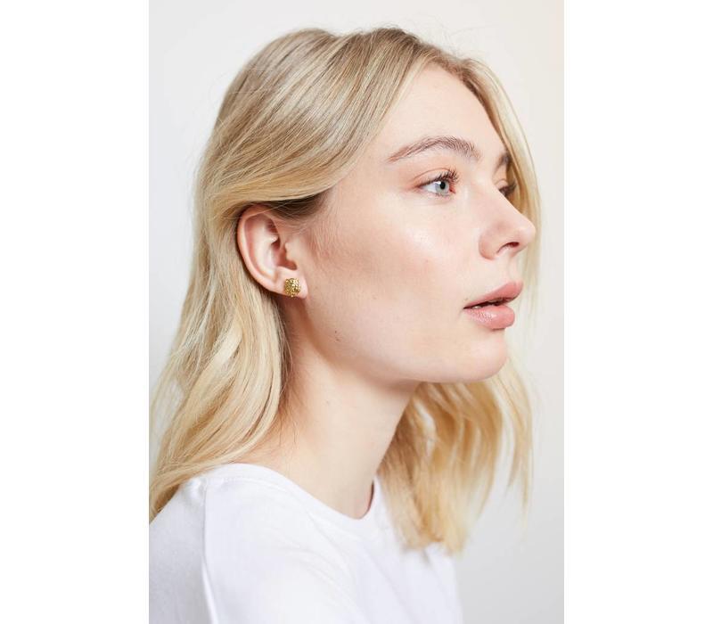 Earrings Lion plated