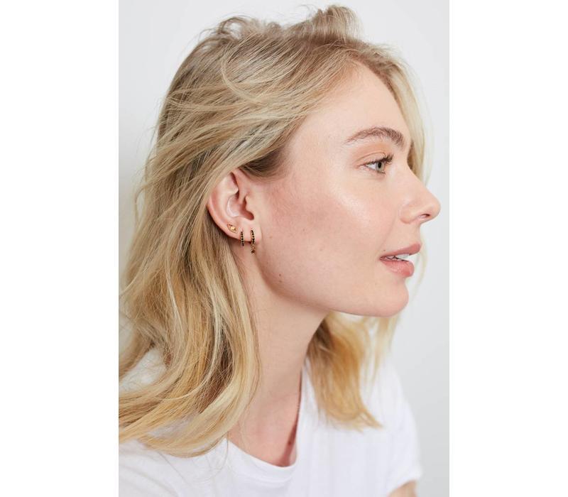 Earrings Eye plated
