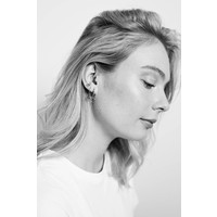 Earrings Open Circle plated