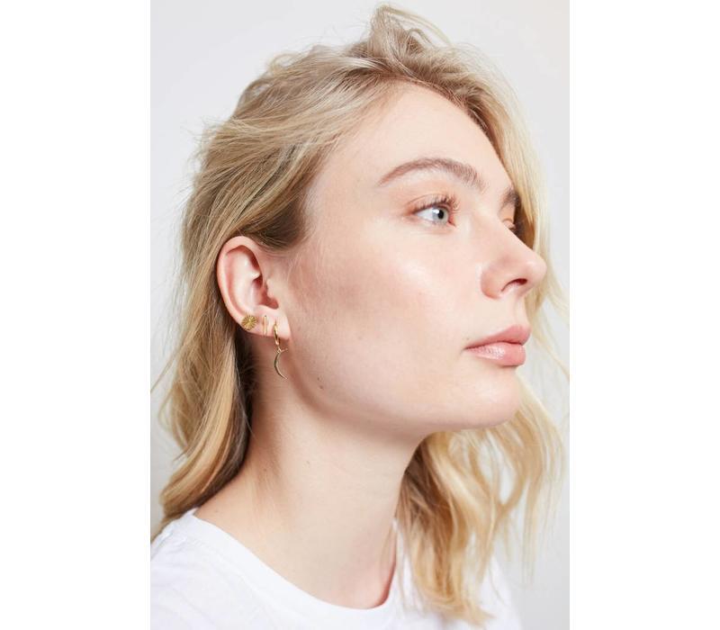 Earrings Bar plated