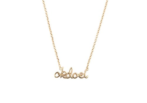 All the luck in the world Ketting Okdoei 18K goud