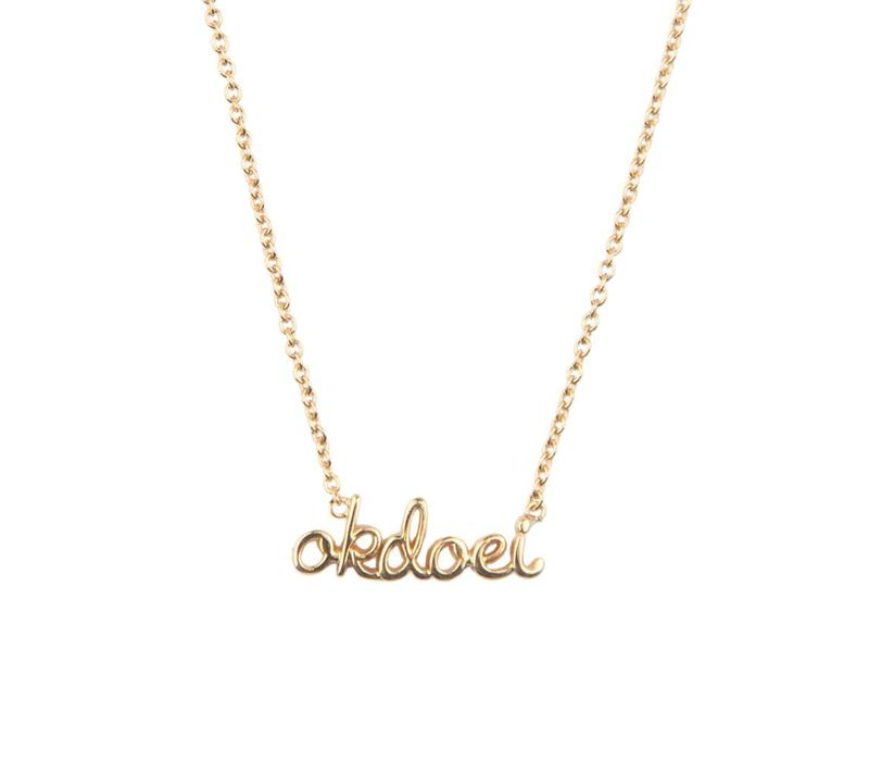 Necklace Okdoei gold