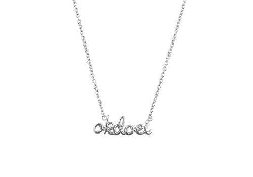 All the Luck in the World Urban Silverplated Necklace Okdoei