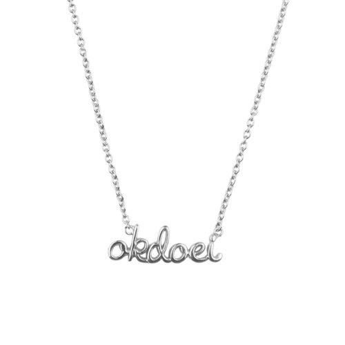 Ketting Okdoei zilver
