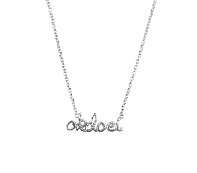 Necklace Okdoei plated
