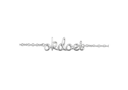 All the luck in the world Bracelet Okdoei silver