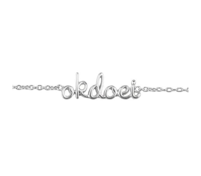 Armband Okdoei zilver