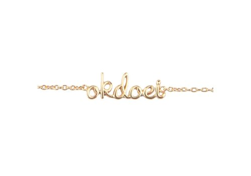 All the luck in the world Armband Okdoei 18K goud