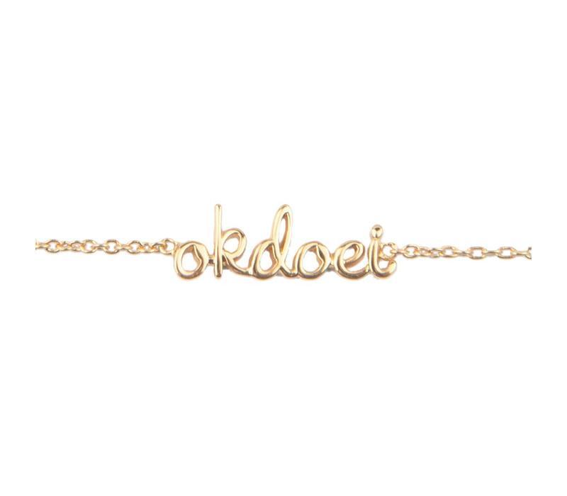 Urban Goldplated Armband Okdoei