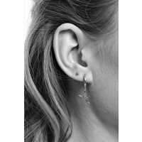 Petite Sterling Silver Earrings Solid Triangle