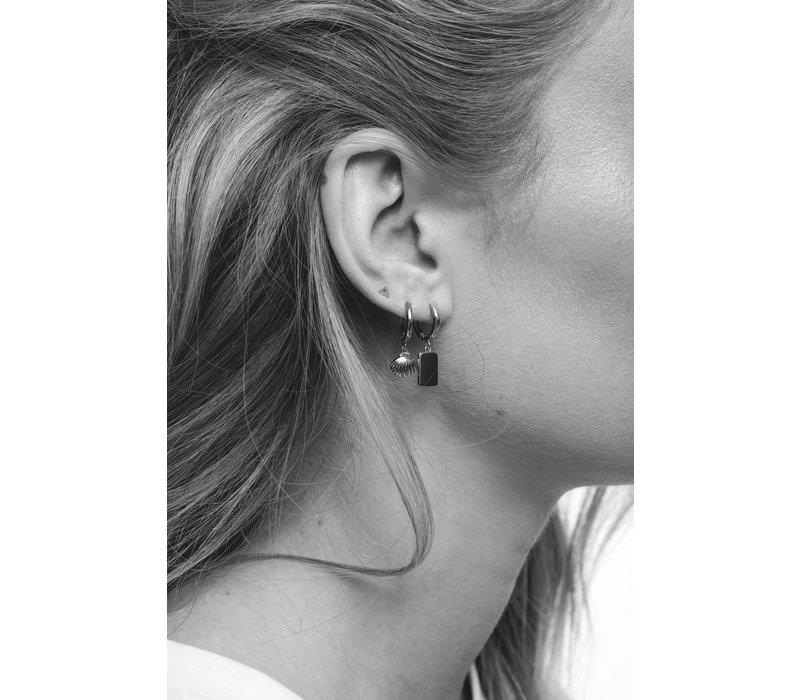 Earring Rectangle silver