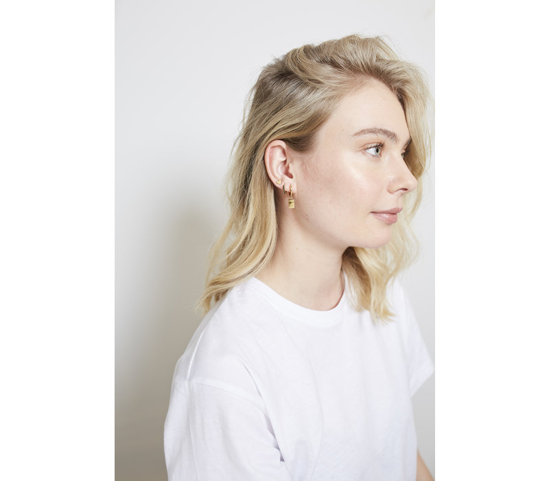 Earring Rectangle plated