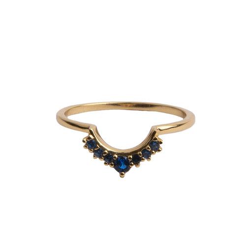 Ring Crown Blue 18K gold