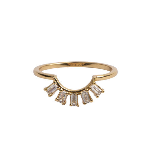 Ring Crown All Clear 18K gold