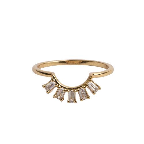Ring Kroon Transparant 18K goud