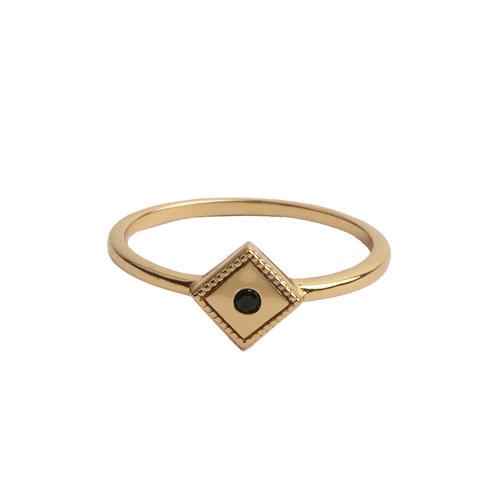 Ring Rhomb Black 18K gold