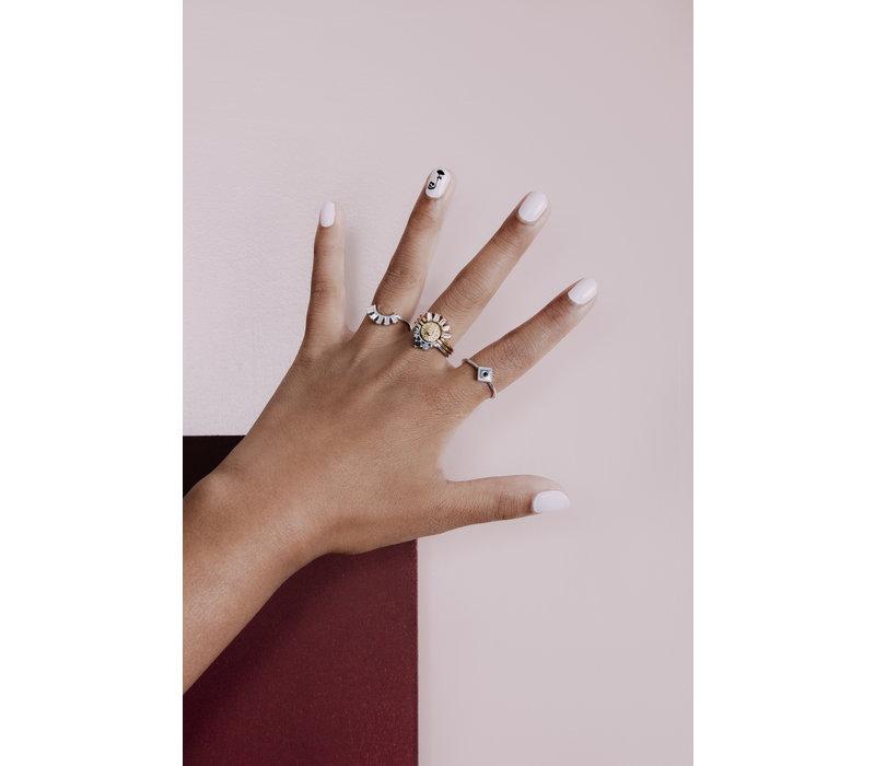 Ring Ruit Zwart zilver