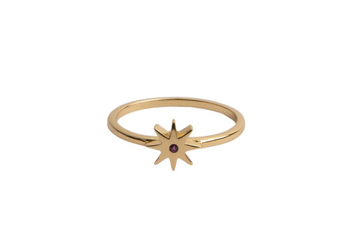 All the Luck in the World Ring Star Pink 18K gold