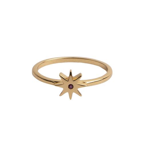 Ring Star Pink 18K gold