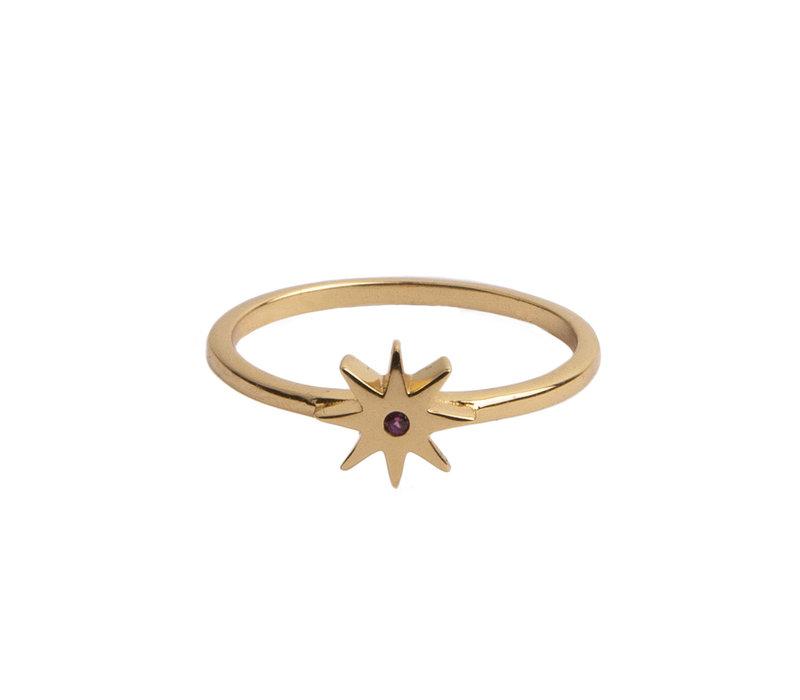 Ring Ster Roze verguld