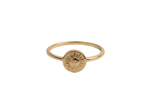All the Luck in the World Ring Munt Zon 18K goud