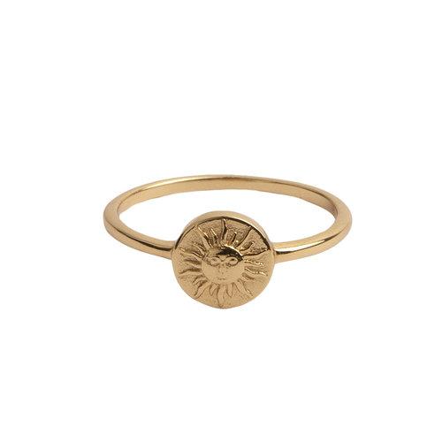 Ring Coin Sun 18K gold